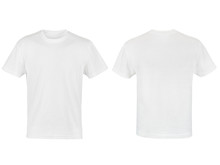 Two White T-shirt Isolated