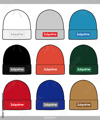 beanie design fashion technical drawings vector template buy this