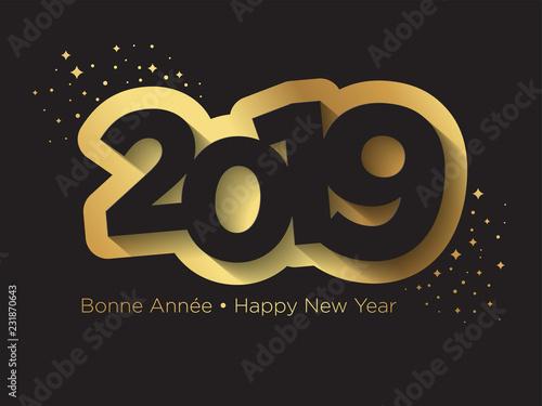 Photo  Carte de Vœux 2019 - Bonne Année - Happy New Year