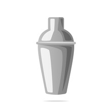 Cocktail Shaker Vector Isolated