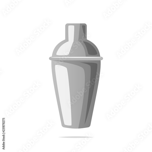 Fotografia  Cocktail shaker vector isolated