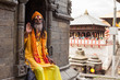 Leinwanddruck Bild - Sadhu in Pashupatinath