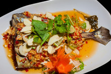 Steamed Sea Bass With Lime Sauce Thai Style