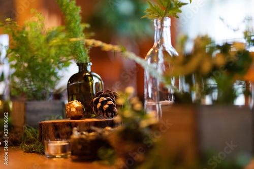rustic tablescape close up Tablou Canvas