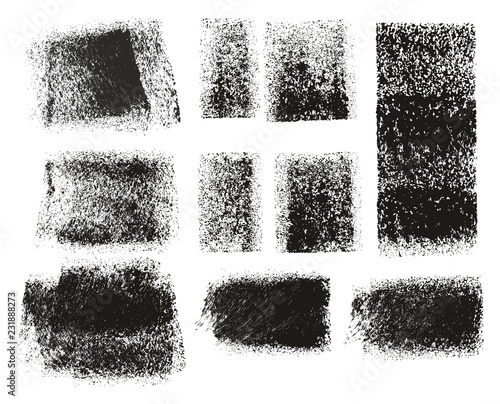 Cuadros en Lienzo Paint Roller Rough Grunge Backgrounds & Lines High Detail Abstract Vector Lines