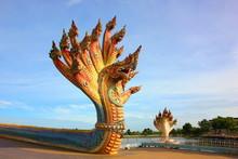 The Colorful Naga Statue Many ...