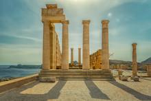 Rhodes Lindos Acropolis Temple...