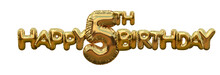 Happy 5th Birthday Gold Foil B...