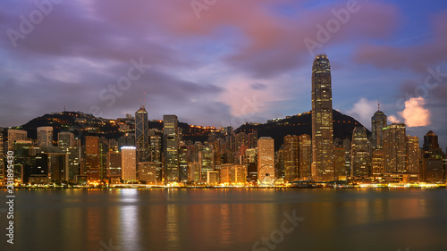 cityscape with sunrise skyline and cloud Wallpaper Mural