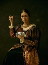 Portrait Of A Girl Wearing A P...