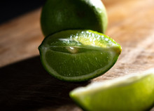 Fresh Sliced Lime With A Backlight