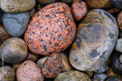 Fotografie, Obraz  Pebbles on Boulder Beach, Acadia National Park, Maine