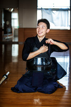 Male Japanese Kendo Fighter Kn...