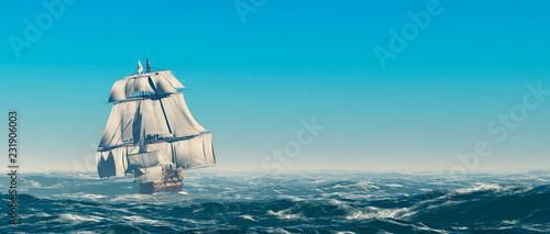 Obraz na plátně Sailing old