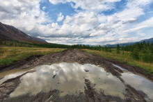 Big Puddle On A Country Road
