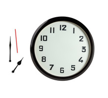 Minimalistic Wallclock And Clock Hands Isolated On White