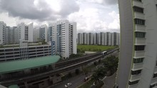 Time Lapse Of Dark Clouds Moving And Forming Up In Punggol, Singapore.