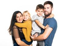 A Nice Happy Family On Studio ...