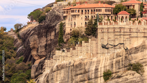 Foto op Aluminium Historisch geb. Monastery in Meteora, Greece