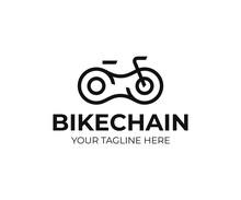 Bicycle Chain Logo Design. Bic...