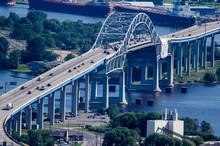Blatnik Bridge Going Over Lake...