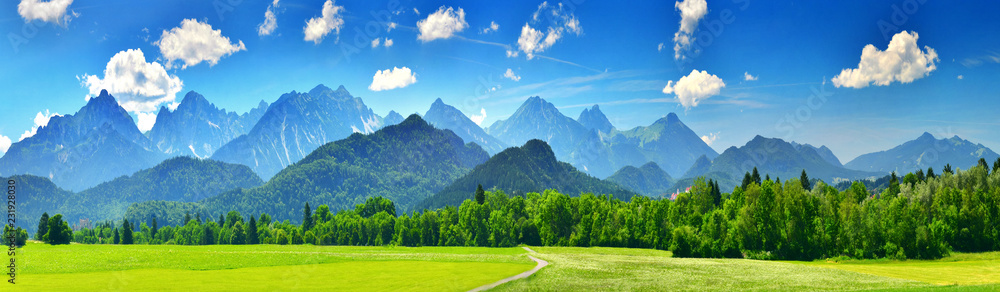 Fototapety, obrazy: Panorama of summer mountains
