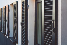 Black Wooden Shutters For Wind...
