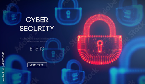 Fotografía  Coputer internet cyber security background