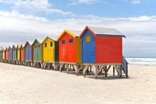 Beach Huts In Cape Town, South...