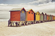 canvas print picture - Beach huts in Cape Town, South Africa