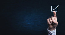 Man Hand Touching In Checkbox....