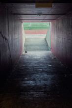 Tunnel Out To Football Field