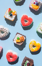 Various Kinds Of Colorful Pastry/cakes/donuts.
