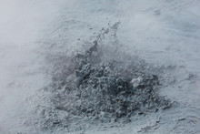 Splashing Mud In Geothermal Area In Iceland