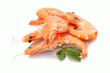 canvas print picture - Crevetten Garnelen auf Haufen