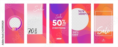 Set Of Instagram Stories Sale Banner Background Instagram Template