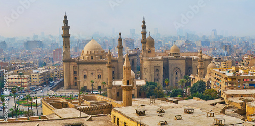 Foggy day in Cairo, Egypt