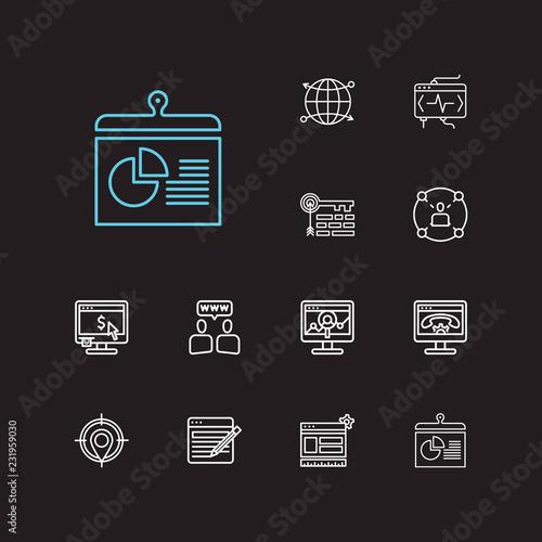 Photo  Engine icons set