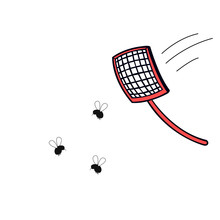 Fly Swatter With Mosquitos. To...