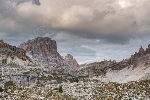 Foto op Canvas Donkergrijs Somewhere in the high mountains, the Dolomites in the south tyrol