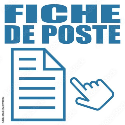 Photo Logo fiche de poste.