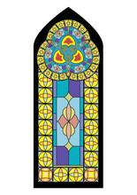 Colorful Church Chapel Gothic Stained Glass Window