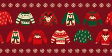 Ugly Christmas Sweaters Seamle...