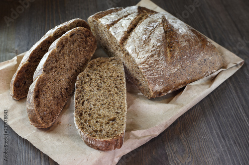 Tuinposter Brood Ciabatta on a table