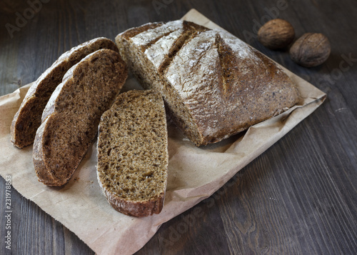Bread and walnut