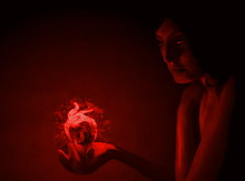 Young Girl With A Burning Hear...