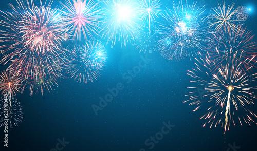 Obraz Wunderschönes Feuerwerk - fototapety do salonu