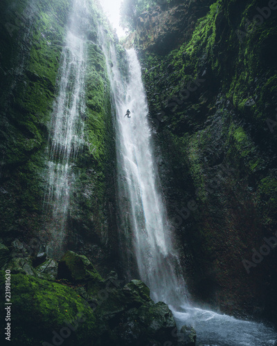 Recess Fitting Waterfalls Adrenaline rappelling big waterfall in Madeira