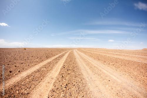 Obraz sahara desert road - fototapety do salonu