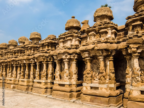 Spoed Foto op Canvas Bedehuis View of Kailasanathar Temple in Kanchipuram, India.